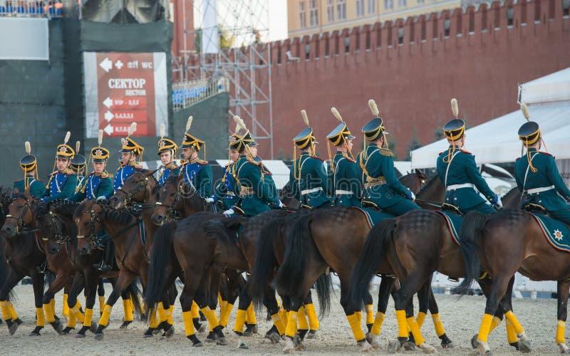 Cavaleiros da escolta honorário da cavalaria de presidencial imagem de stock