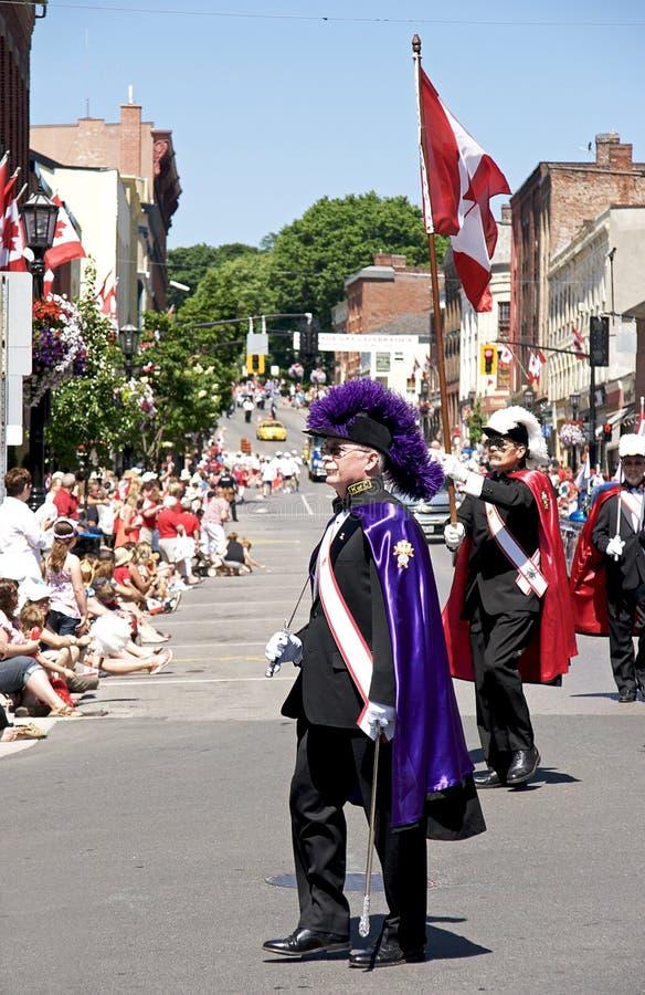Cavaleiros da parada do dia de Columbo - de Canadá imagens de stock royalty free