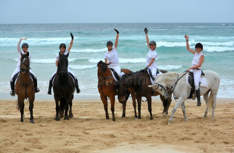 Cavaleiros da praia imagens de stock royalty free