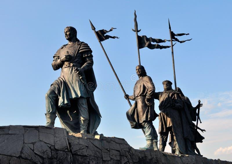 Cavaleiros de bronze da saga alemão fotos de stock