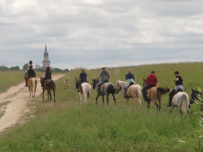 Cavaleiros do cavalo foto de stock