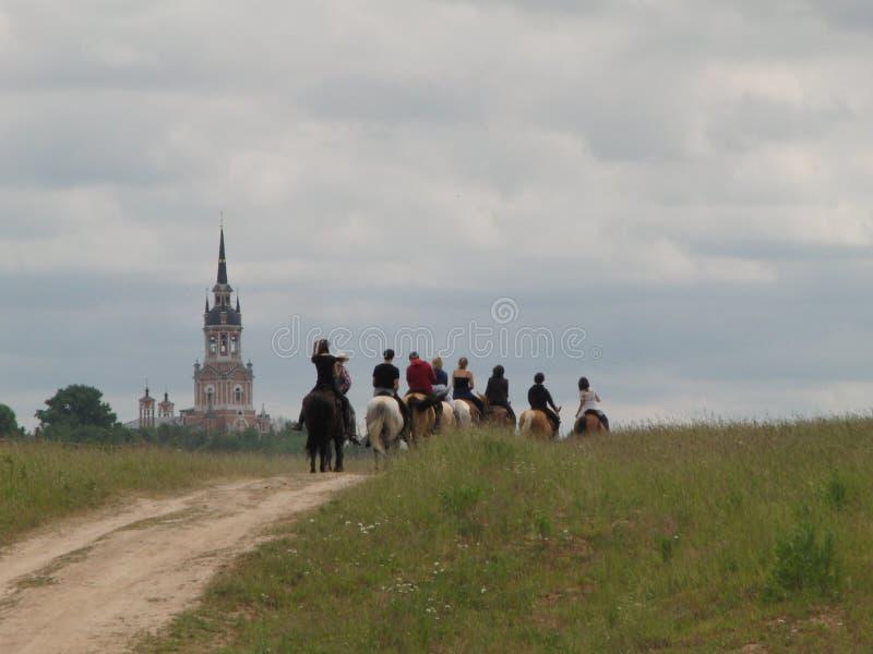 Cavaleiros do cavalo fotos de stock
