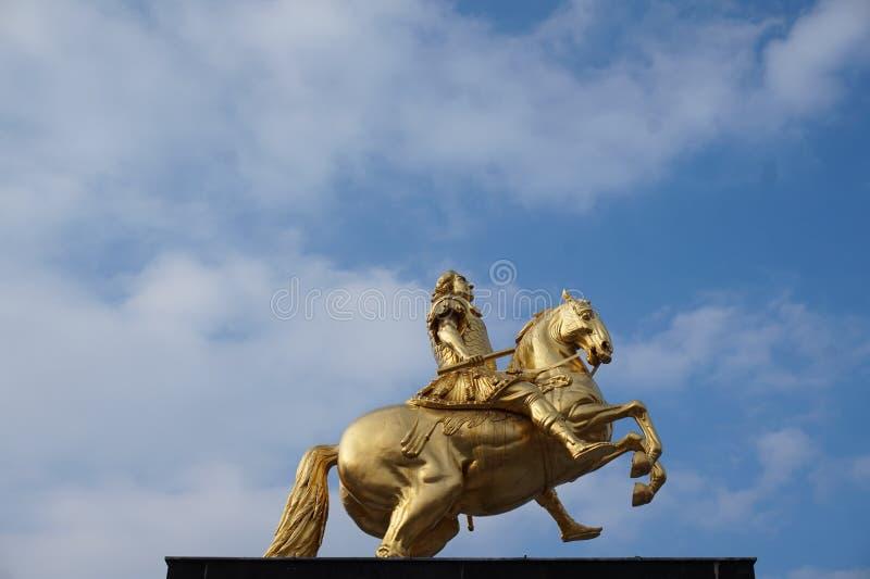 Cavaleiros dourados Dresden, Alemanha foto de stock