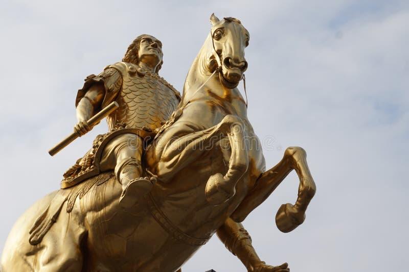 Cavaleiros dourados Dresden, Alemanha fotografia de stock royalty free