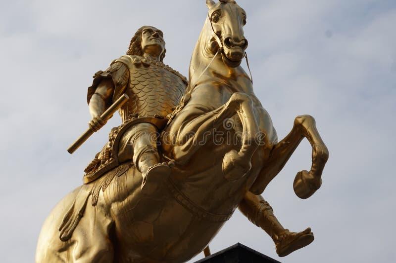 Cavaleiros dourados Dresden, Alemanha imagens de stock