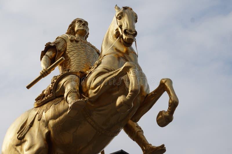 Cavaleiros dourados Dresden, Alemanha foto de stock royalty free