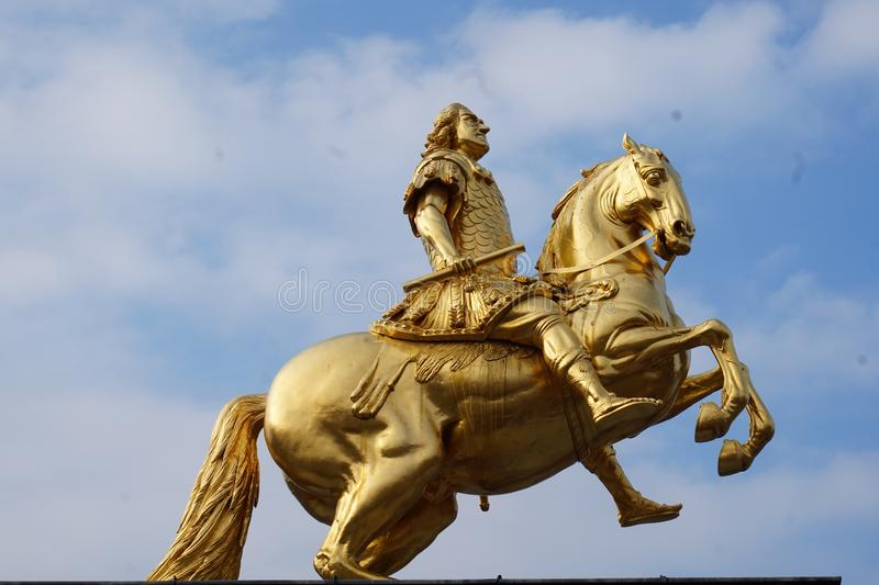 Cavaleiros dourados Dresden, Alemanha fotos de stock royalty free