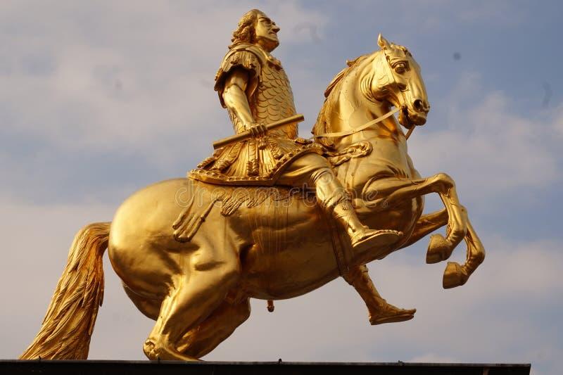 Cavaleiros dourados Dresden, Alemanha fotos de stock
