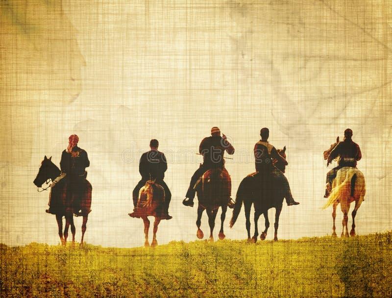 Cavaleiros envelhecidos ilustração stock