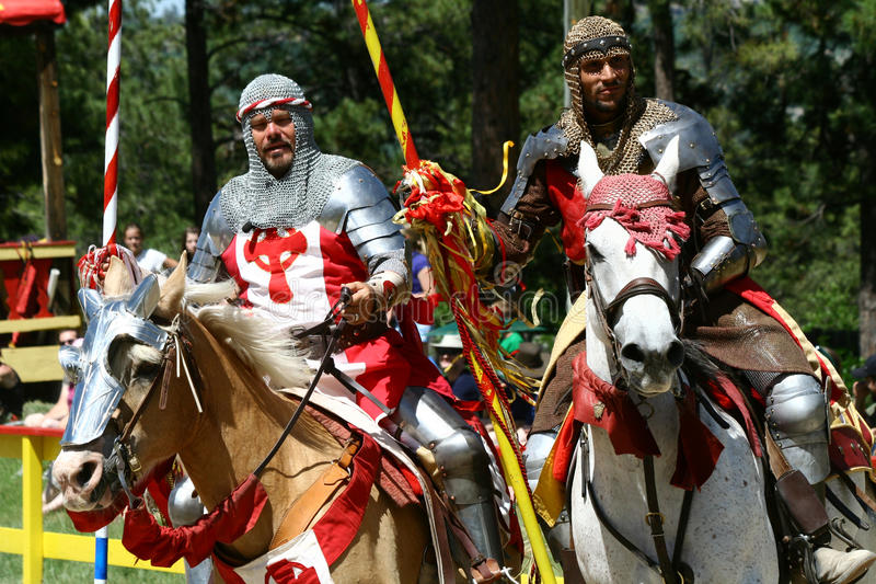Cavaleiros Jousting imagens de stock royalty free