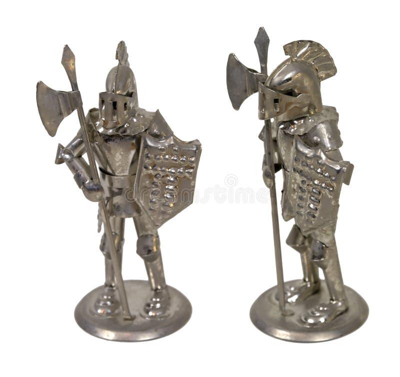 Cavaleiros na armadura imagens de stock royalty free