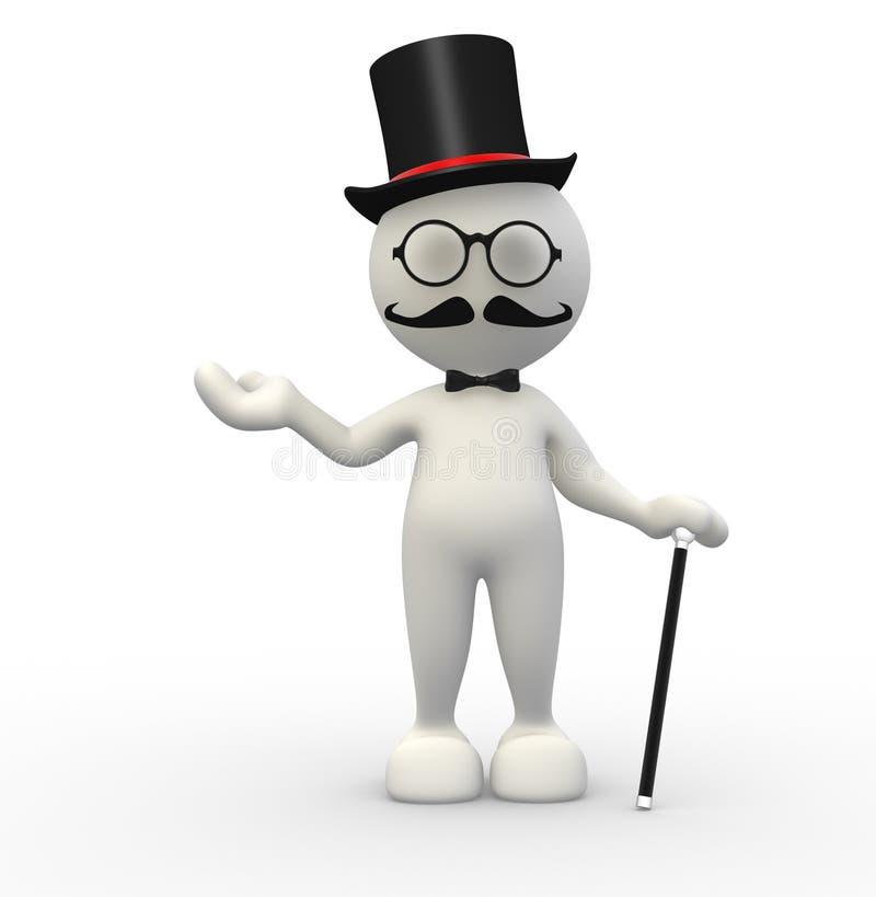 Cavalheiro ilustração royalty free