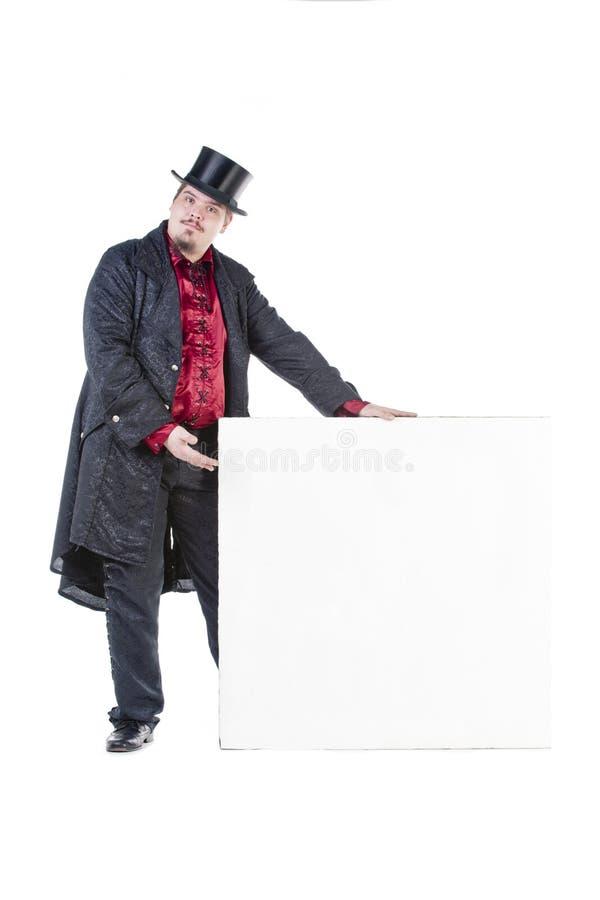 Cavalheiro com sinal imagens de stock