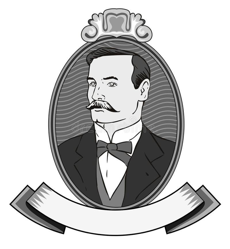Cavalheiro do Victorian ilustração royalty free