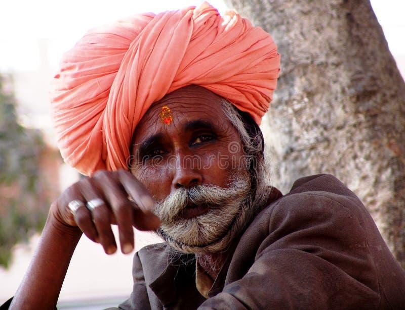 Cavalheiro no camelo justo, Jaisalmer, India imagem de stock royalty free