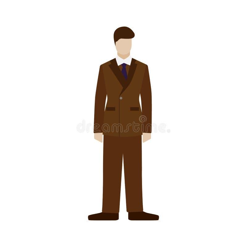 Cavalheiro retro formado Dândi inglês Estilo britânico Plano isolado ilustração stock