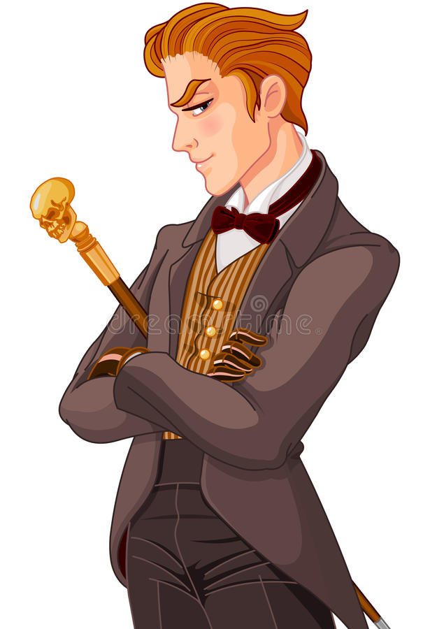 Cavalheiro vitoriano da era ilustração stock