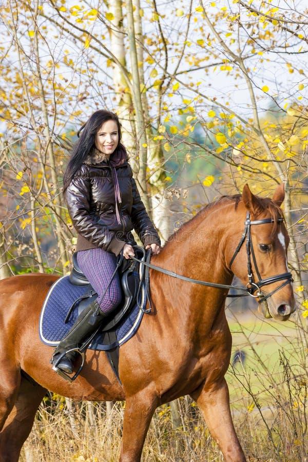 Cavalier à cheval photographie stock libre de droits