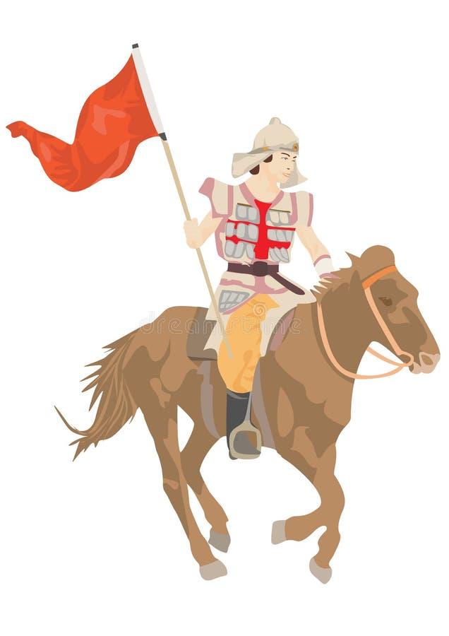 Cavalier illustration stock