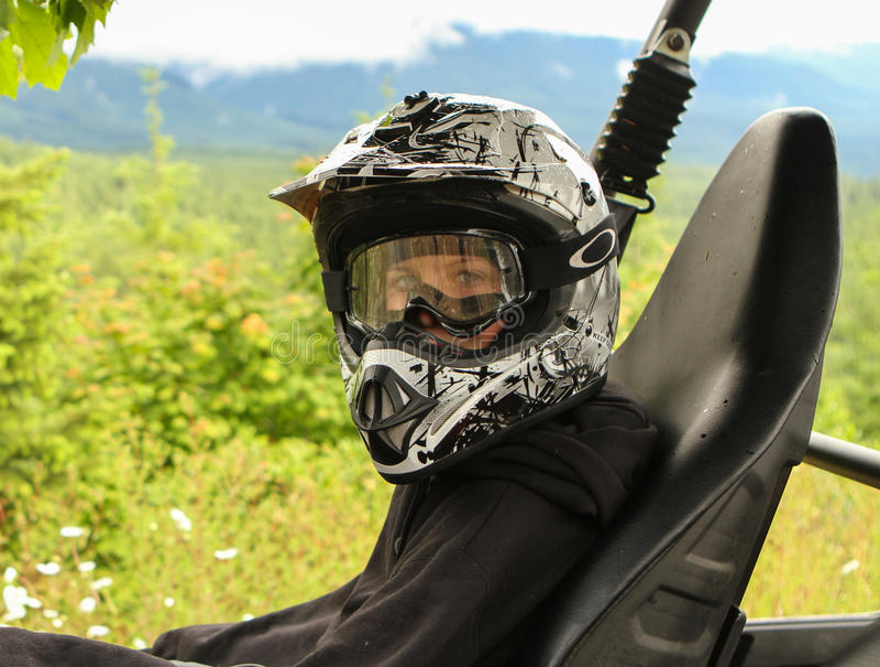 Cavalier d'ATV photos stock