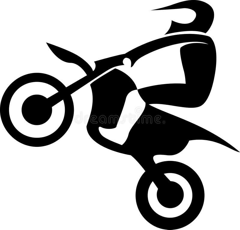 Cavalier d'Enduro de motocross illustration de vecteur