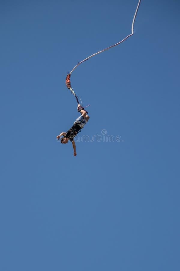 Cavalier de Bungee photo stock
