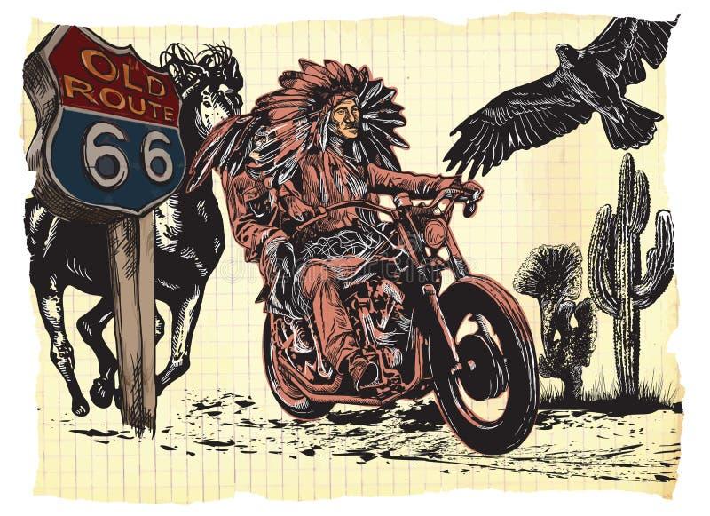 Cavalier de papier - 01-A_REP FINAL illustration stock