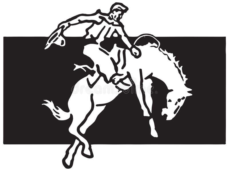 Cavalier de rodéo 4 illustration de vecteur