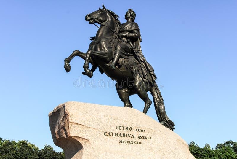 Cavalier en bronze - St Petersbourg, Russie images libres de droits