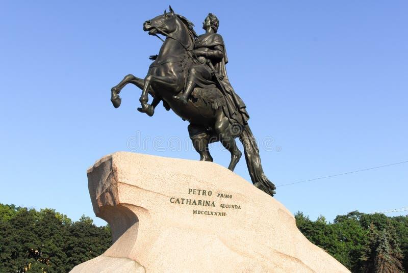Cavalier en bronze - St Petersbourg, Russie photos stock