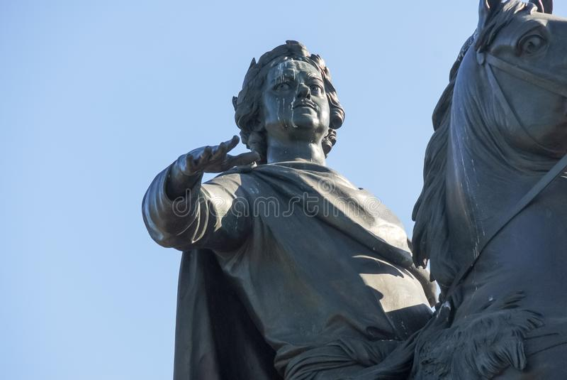 Cavalier en bronze - St Petersbourg, Russie photo stock
