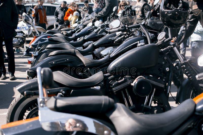 Cavalier et couperet faciles faits de Harley-Davidson de Merican photo libre de droits