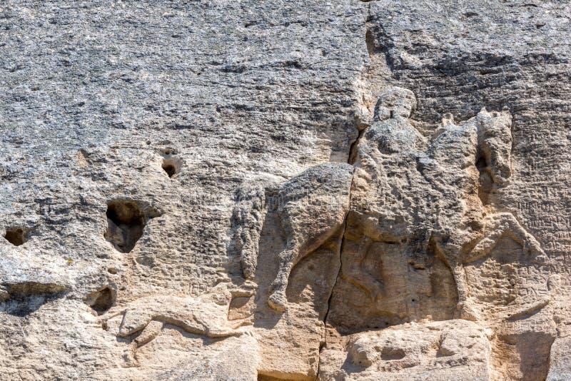 Cavalier médiéval de Madara de soulagement de roche de la période du premier empire bulgare, liste de patrimoine mondial de l'UNE images stock