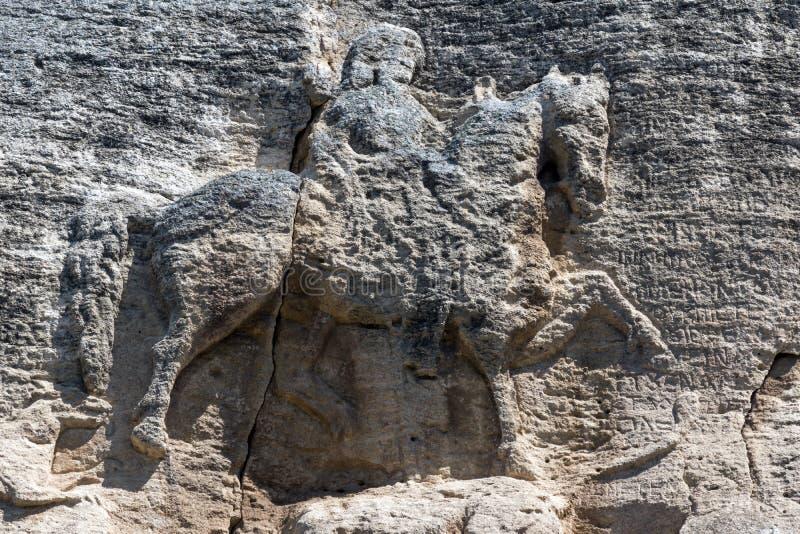 Cavalier médiéval de Madara de soulagement de roche de la période du premier empire bulgare, liste de patrimoine mondial de l'UNE photos libres de droits