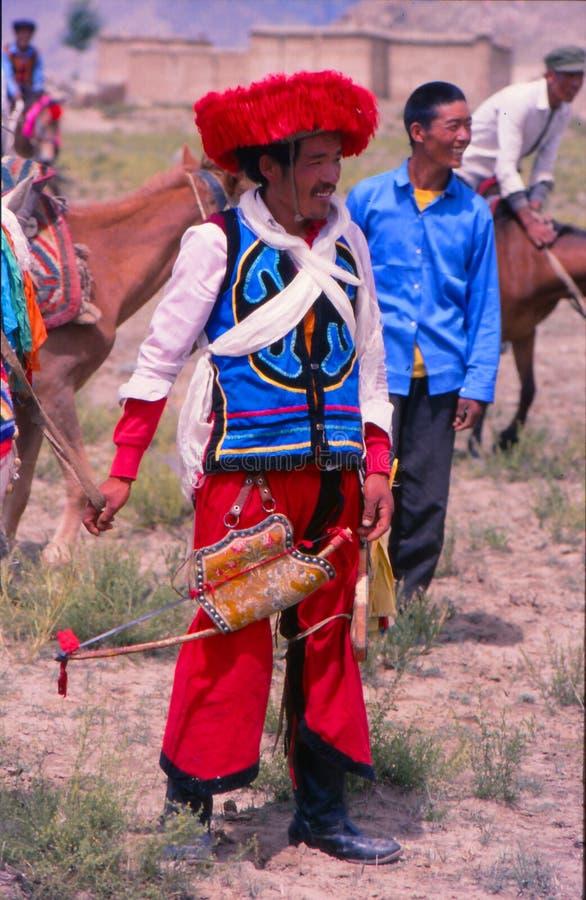 Cavalier tibétain photographie stock libre de droits