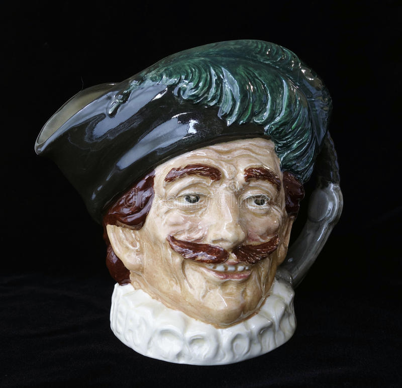 Download The Cavalier Toby Jug. stock photo. Image of head, toby - 39510736