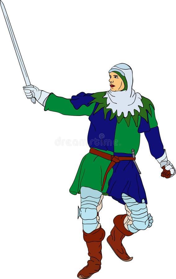 Cavaliere illustrazione vettoriale