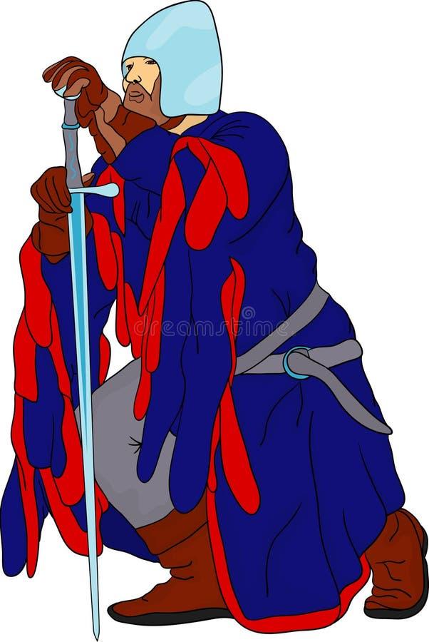 Cavaliere royalty illustrazione gratis