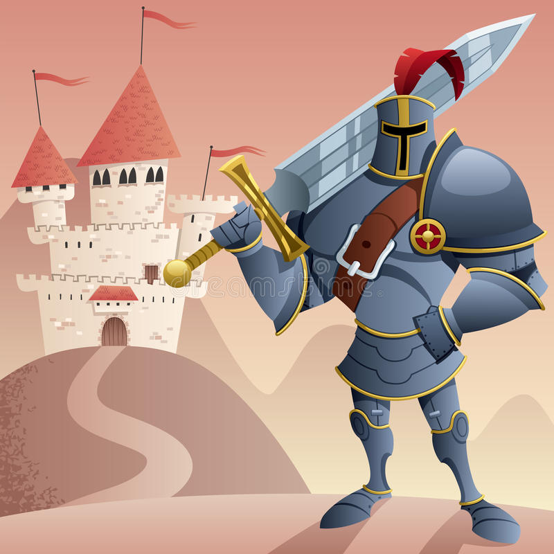 Cavaliere 2 royalty illustrazione gratis