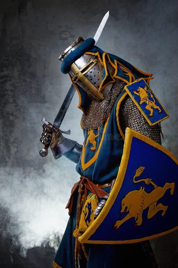 Cavaliere con la spada fotografia stock