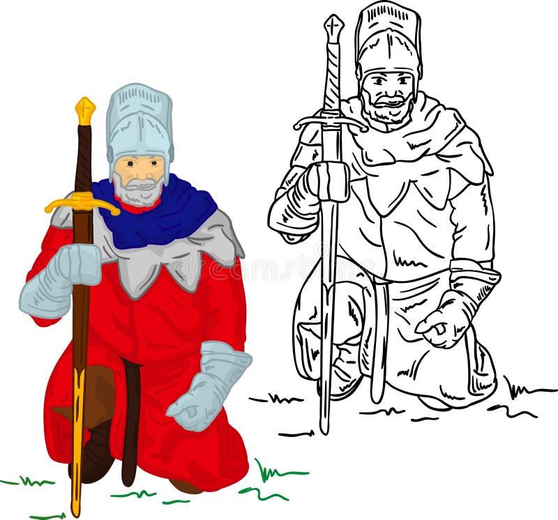 Cavaliere con lo scimitar royalty illustrazione gratis