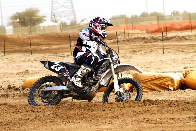 Cavaliere dei motorcross del Kuwait immagine stock