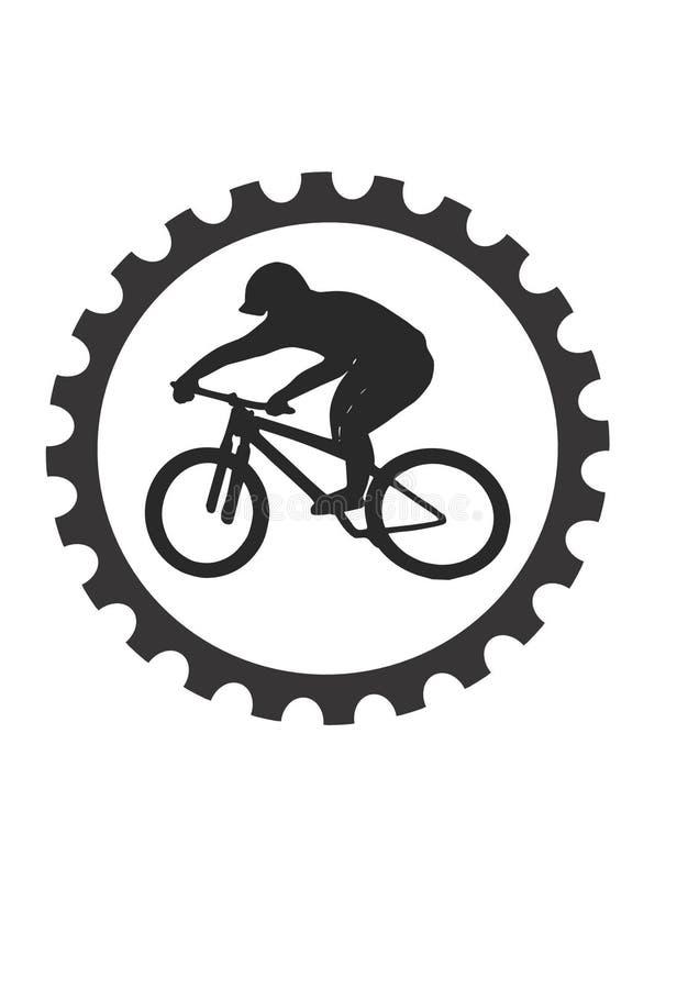 Cavaliere della bici illustrazione vettoriale