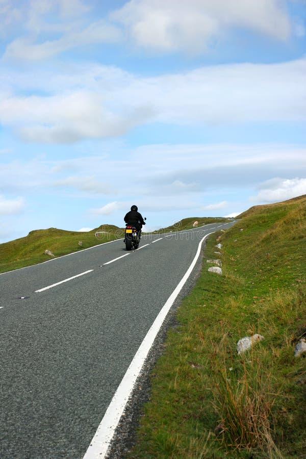 Cavaliere della motocicletta immagine stock