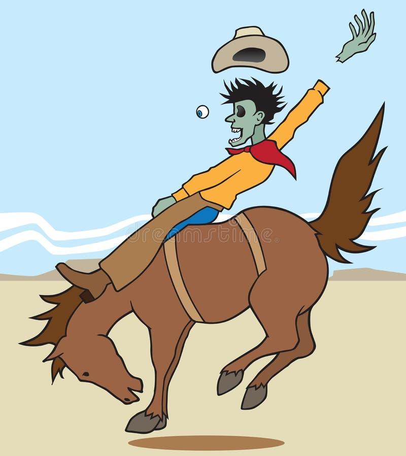 Cavaliere di Bronc dello zombie royalty illustrazione gratis