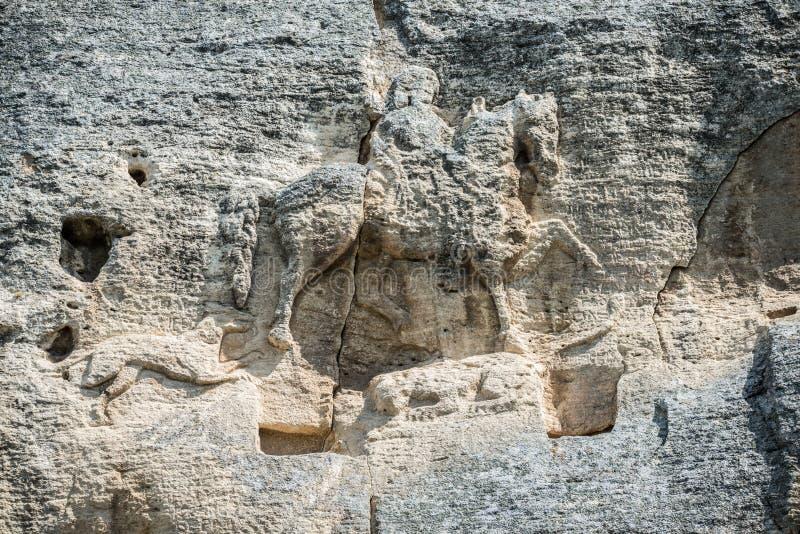 Cavaliere di Madara, Bulgaria fotografie stock libere da diritti