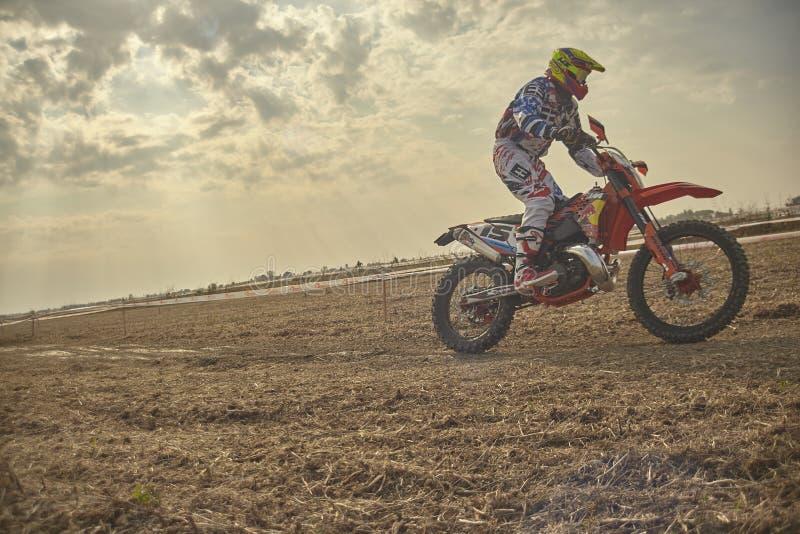 Cavaliere di motocross fotografia stock libera da diritti