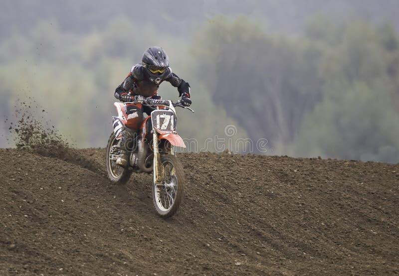 Cavaliere di Motorcross fotografia stock