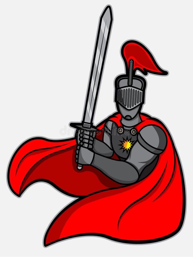 Cavaliere di posizione di combattimento illustrazione vettoriale