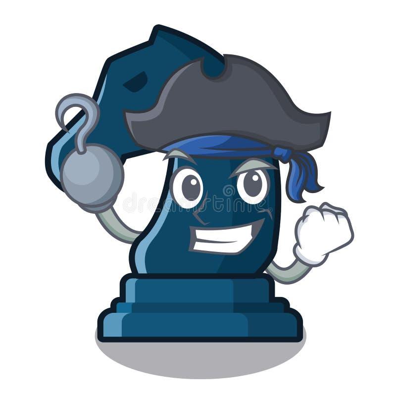 Cavaliere di scacchi del pirata nella forma della mascotte royalty illustrazione gratis